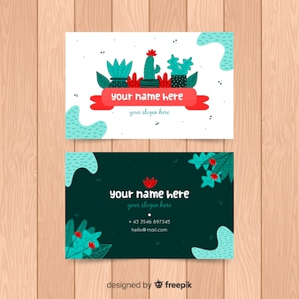 Creative business card with nature concept