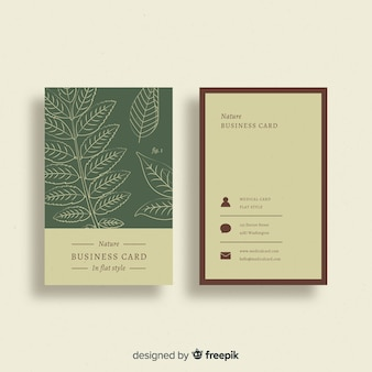 Creative business card with nature design