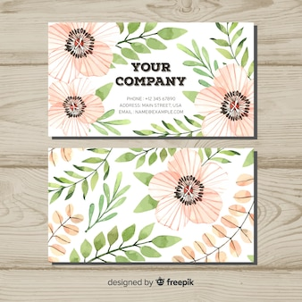 Creative business card with nature or eco concept