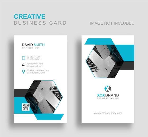 Креативная визитка с вертикальным стилем