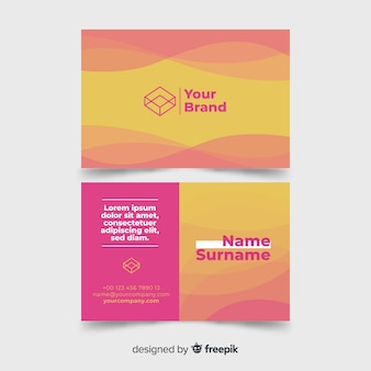 Creative business card with wave shapes