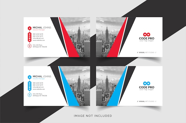 Creative business cards with city