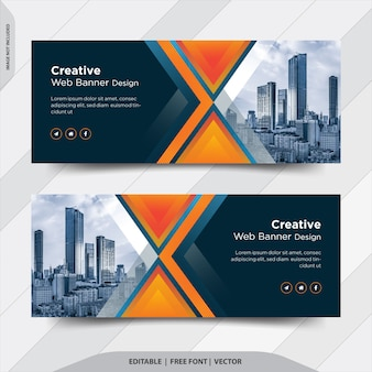 Creative business company facebook cover