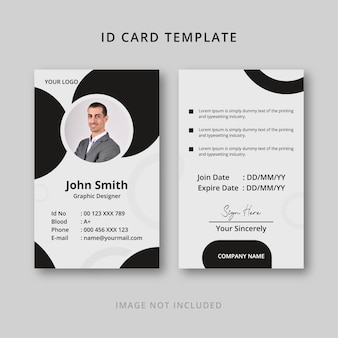 Creative business company id card