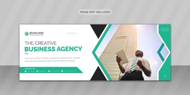 Creative business facebook cover photo design or web banner design