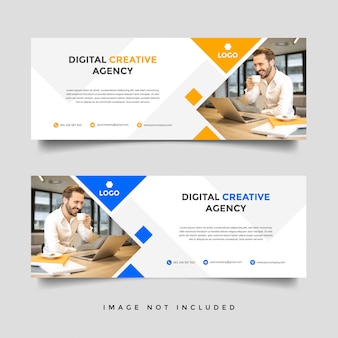Creative business facebook cover vector template