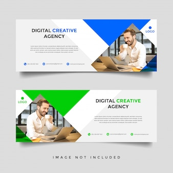 Creative business facebook cover vector template