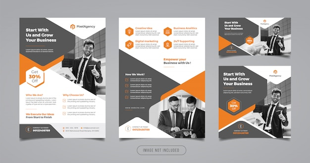 Creative business flyer and banner design template