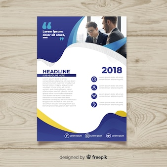 Creative business flyer concept