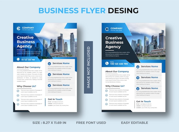 Creative business flyer design premium vector