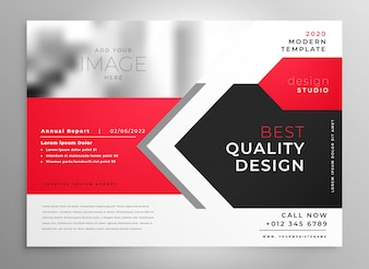 Creative business flyer in red black design