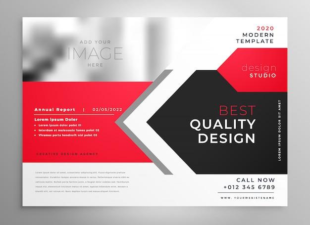 Креативный деловой флаер в красно-черном дизайне