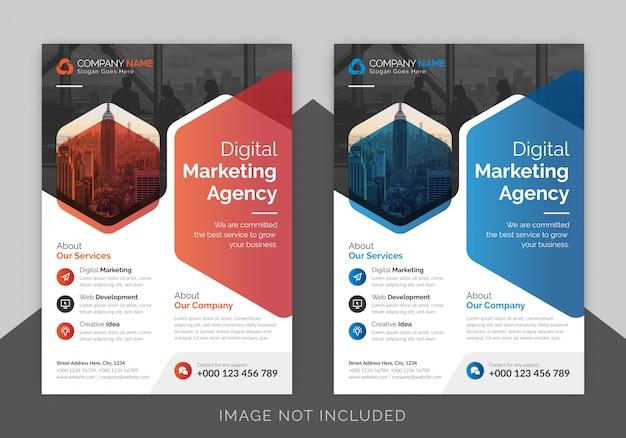 Creative business flyer template design Premium Vector