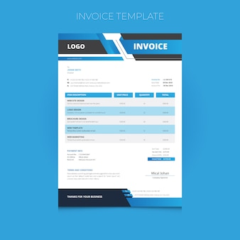 Creative business invoice template
