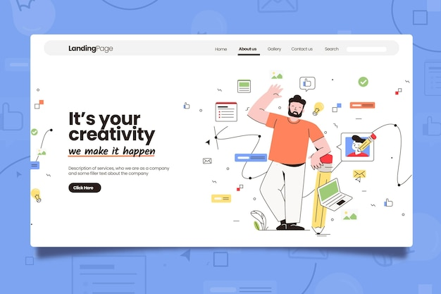 Creative business landing page