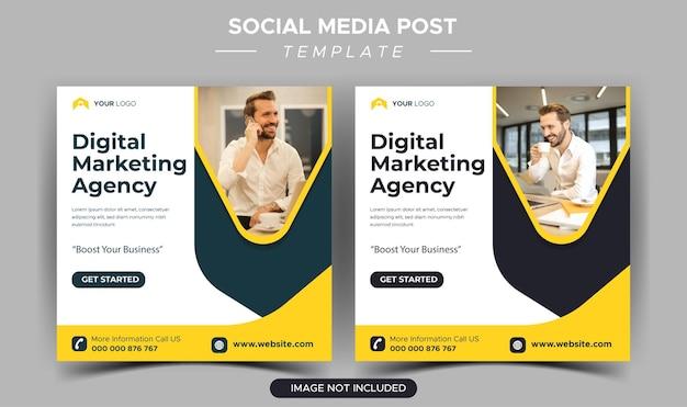 Шаблон сообщения instagram для креативного бизнес-маркетингового агентства