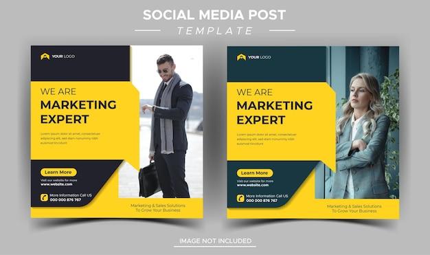 Шаблон сообщения instagram для креативного бизнес-маркетолога Premium векторы