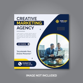 Creative business marketing social media post template