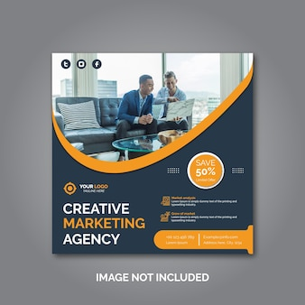 Creative business marketing social media post template