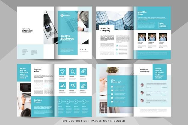 クリエイティブなビジネスプレゼンテーション、会社概要テンプレート。企業のビジネス小冊子テンプレート。