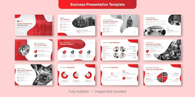 Creative business presentation slide template design set