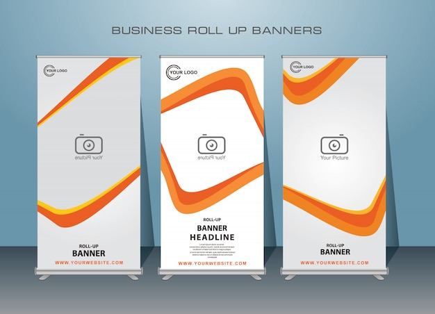Creative business roll up banner. standing banner design.