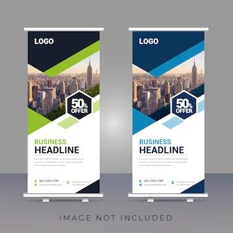 Creative business roll-up banner template design