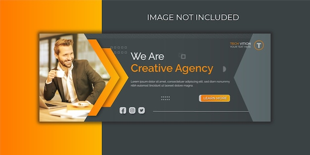 Creative business social media banner template with facebook cover design