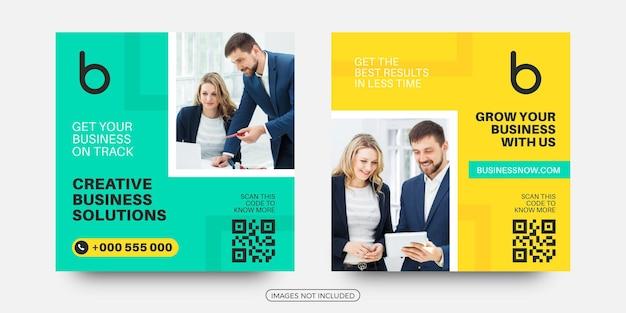 Creative business social media post templates Premium Vector