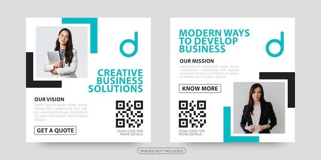 Creative business social media post templates