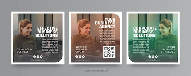 Creative business solutions agency social media post templates