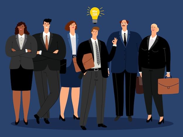 創造的なビジネスチームの新しいアイデア