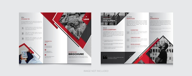 Creative business trifold brochure template