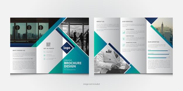 創造的なビジネス3つ折りパンフレットテンプレート