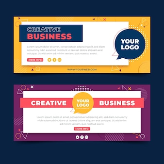 Creative business web banners template