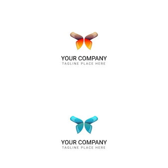 Creative butterfly logo design - vector