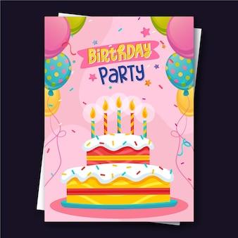 크리 에이 티브 케이크 최고의 생일 엽서