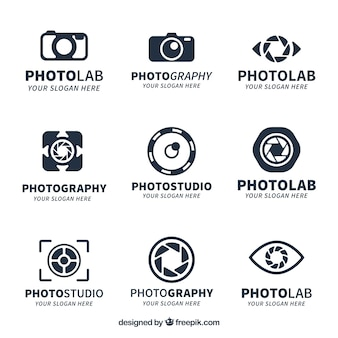 Коллекция логотипов creative camera
