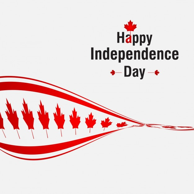 Creative canada independence day background