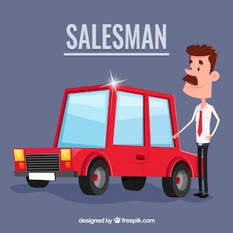 Creative car salesman concept