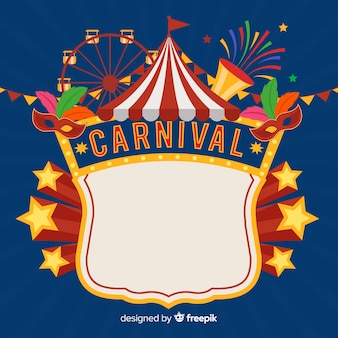 Creative carnival background in flat style