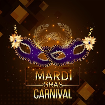 Creative carnival event with creative mask