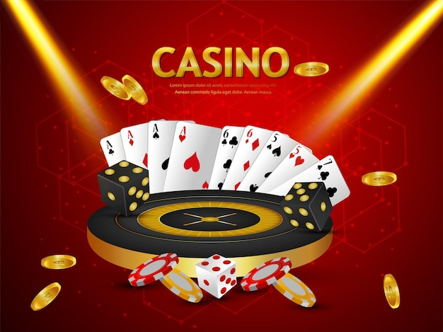 Creative casino online game with roulette wheel