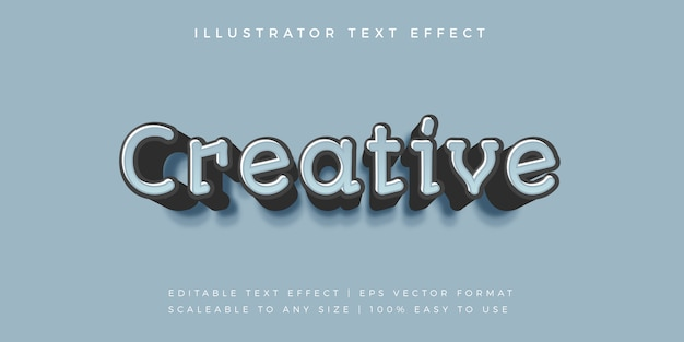 Эффект шрифта creative casual text style font