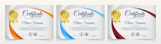 Creative certificate of appreciation award template