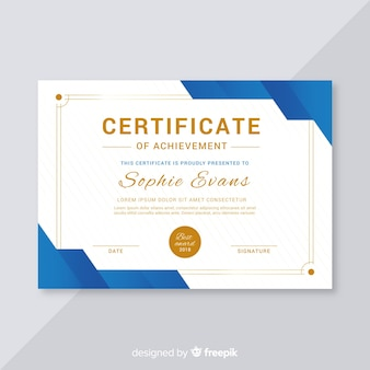 Creative certificate template concept