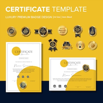 Creative certificate templates with badges
