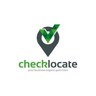 Creative check locate logo