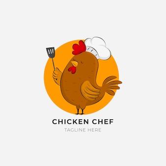 Креативный шаблон логотипа шеф-повара