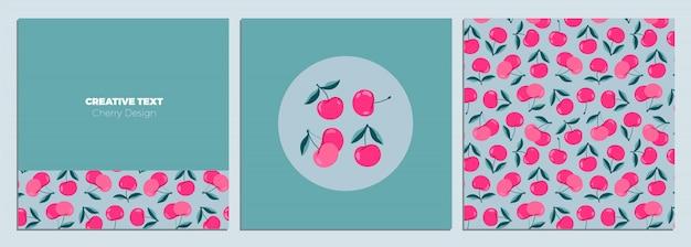 創造的な桜デザインカードセット。